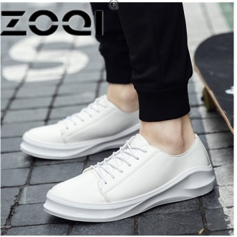 ZOQI Men Sport Running Shoes Students Flat Board Jogging Training Sport Shoes Men Breathable Running Sneakers For Male ShoesWhite - intl