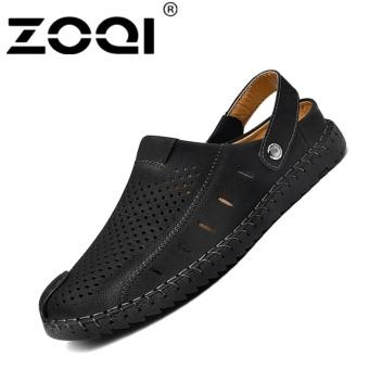 ZOQI Men's Fashion Casual Beach Shoes Summer Sandals SlipperBlack - intl