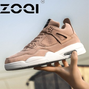 ZOQI New Style Men Running Shoes Outdoor Jogging Training Shoes Sports Sneakers Men Keep Warm Shoes For RunningApricot - intl