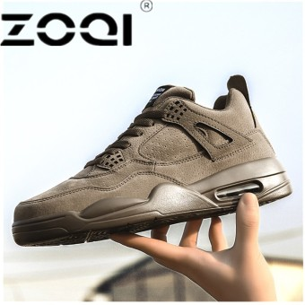 ZOQI New Style Men Running Shoes Outdoor Jogging Training Shoes Sports Sneakers Men Keep Warm Shoes For RunningKhaki - intl