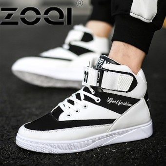 ZOQI Popular Running Shoes For Men Buckle High Side Men Sport Shoes Camouflage Cushioning Rubber Men SneakersWhite - intl