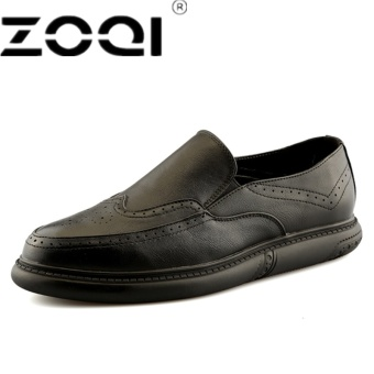 ZOQI Luxury Brand Oxford Shoes For Men's Round Toe Dress Shoes Men Italian Leather Formal Wedding Shoes
