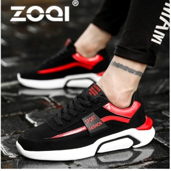 ZOQI Outdoor Running Sport Shoes Lace-Up Sport Trainers Rubber Soft Bottom Breathable Brand Sneakers For Men