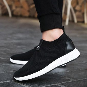 ZORO Athletic Men Sneakers Summer Breathable Mesh Sport Shoes For Men Outdoor Light Running Shoes Black - intl