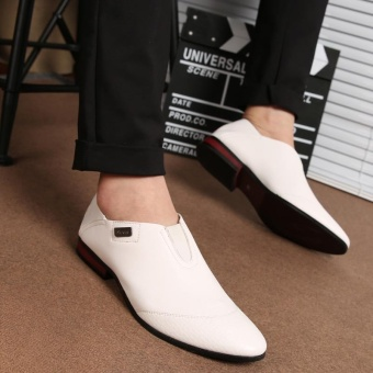 ZORO Fashion Genuine Leather Shoes Men Flats Casual Shoes High Quality Men Shoes White - intl