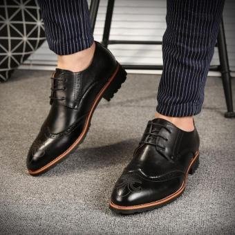 ZORO Genuine Leather Bullock Oxfords Shoes For Men Designer Luxury Men Shoes Black - intl