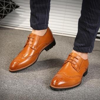 ZORO Genuine Leather Bullock Oxfords Shoes For Men Designer Luxury Men Shoes Brown - intl