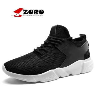 ZORO Original New Arrival Running Shoes Light Weight Mesh Sports Shoes Jogging Sneakers For Men Outdoor Flat Walking Trend Shoes Black - intl