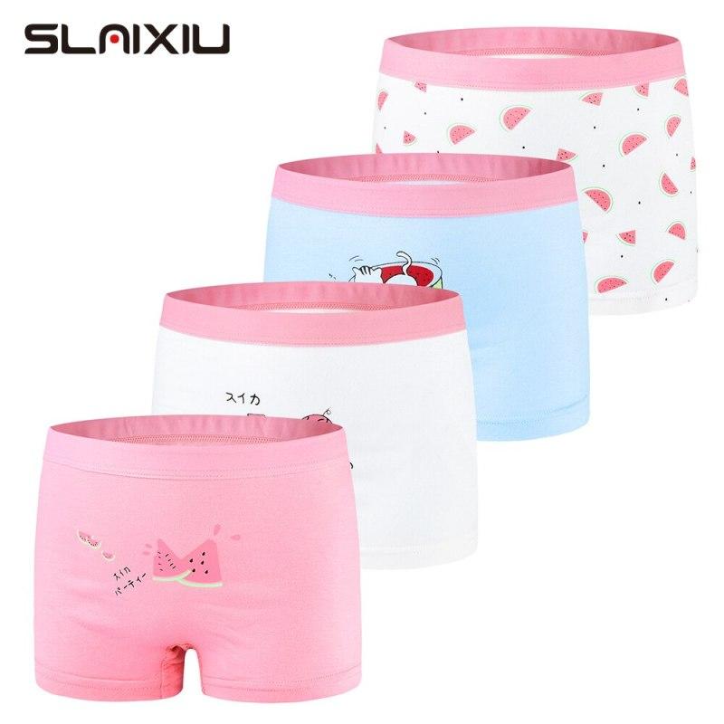 Nơi bán SLAIXIU Kids Girls Underwear Cartoon Watermelon Style Cotton Girl Panties for 2-13 Years Children Shorts Underpants (4pcs)