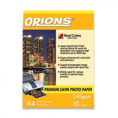 Image of Orions Photo Paper A4 Premium Satin 240gsm