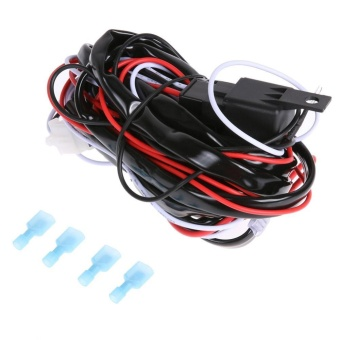 12V 40A LED Work Light Wiring Harness Relay Kit ON/OFF Switch - intl