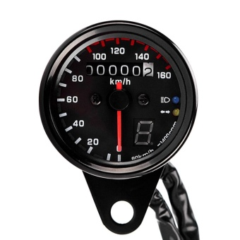 12V Universal Motorcycle Speedometer Tachometer Gauge w/ LED Backlight - intl