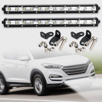 13 Inch 36W White CREE LED Spot Combo Lamp Driving Offroad Work Light Bar - intl