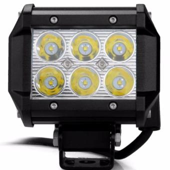 18w 4inch Square Cree Led Work Light spot Beam Offroad ATV SUV 4WD