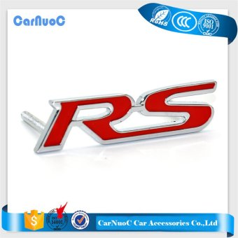 1PCS Car Styling Auto RS Metal 3D Logo Sticker Car Emblem Badge ForAudi A1 A3 A4 A5 A6 A7 A8 R8 Q5 Q7 RS TT Sline RS6 RS7 RS8 - intl