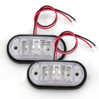 2 Car Truck Trailer Piranha LED Side Marker Blinker Light Lamp BulbWhite - intl