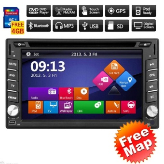 2 Din In Dash Multimedia In Deck Win8 Car Video Autoradio GPS Navi Auto Radio Car Stereo Headunit DVD Player Electronics MP3 Music Automotive Parts CD Motorized 6.2Inch BT Aux Remote control receiver - intl