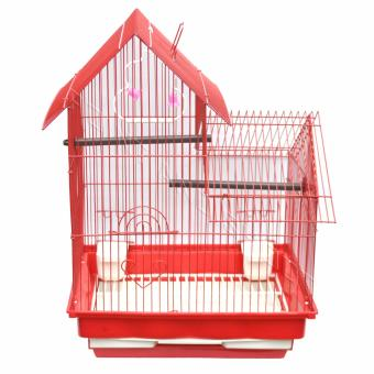 2 Layer Bird Cage (Camella) - 47 x 38 x 42cm Red