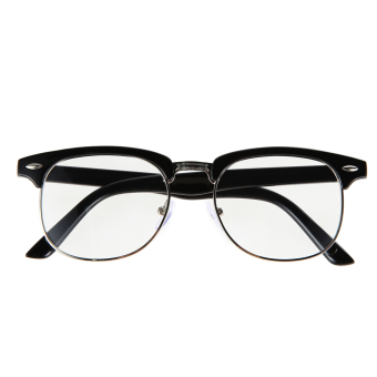 2015 Fashion Reading Eyewear Framed Glasses Optical Plain Glasses(Black)
