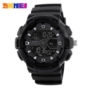 2017 New Popular SKMEI men sport watches dual display digital analog LED Electronic watches Brand quartz Watches 50M waterproof swimming watches 1189 - intl
