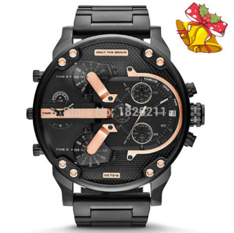 2017 New Year Christmas Gift New Men's Diesel Fashion Metal StrapWatch (Black) - intl
