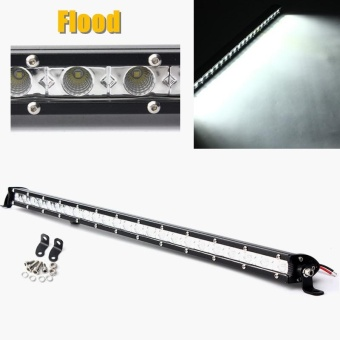25inch 72W Pure White 6000K DC9-32V 7200LM Beam Work Light Bar Slim Cree LED For Truck #Flood - intl