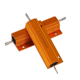 2PC 8Ohm 100W Watt Shell Power Aluminum Housed Case Wirewound Resistor New - intl