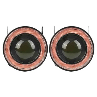 """2pcs 2.5"""" fog light with red cob angel halo eye ring for car suvtruck –"""