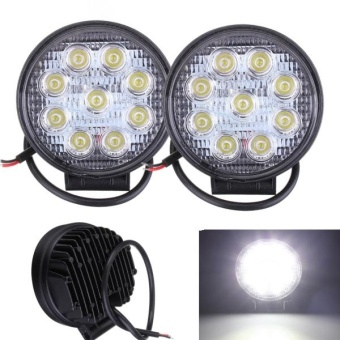 2pcs 27W LED Work Light Flood Offroad Camping Lamp Truck 4WD UTEATV Bar 12V 24V RD - intl