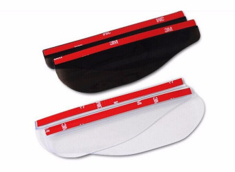 2pcs Rearview Mirror Rainproof Blades Car Back Mirror Eyebrow Rain Car Accessories red - intl