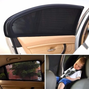 2x Car Sun Shade Cover blind mesh for Rear Side Window kids Max UVProtection - intl