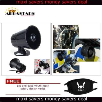 3 Tone Wang Wang Loud Security Siren Horn Warning Alarm UniversalCompatible for Motorcycle Car Scooter Fits All Sunriser Model