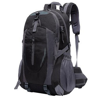 35L Capacity Backpack Waterproof Splash Comfortable School BagOutdoor Travel Hiking Camping Trekking Climbing Laptop BackpackBlack - intl