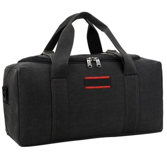 360DSC Large Capacity Canvas Travel Bag Men Crossbody Bag Handbag Luggage Bag - Black S Price Philippines