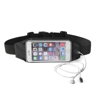 360DSC Water Resistant Sport Gym Running Belt Waist Bag Fanny Packfor Iphone 6 4.7 Inch, Transparent Touch Screen Window EarphoneHole - Black Price Philippines