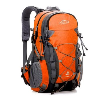 40L Waterproof Women Men Travel Backpack Outdoor Camping ClimbingHiking Backpack Bagpack Sport Back Bag - Orange