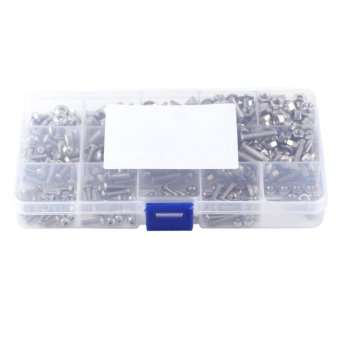 440pcs M3 M4 M5 Stainless Steel SS304 Hex Socket Button Head BoltsScrews and Nuts Assortment - intl Price Philippines