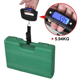 50kg*10g Portable Electronic Luggage Scale LCD Display TravelDigital Luggage Scale Hanging Backlight Balance Weighing - intl