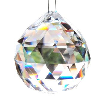 "5Pcs Large Crystal Ball Prism Pendant Suncatcher 0.8"" Chandeliers -Intl Price Philippines"