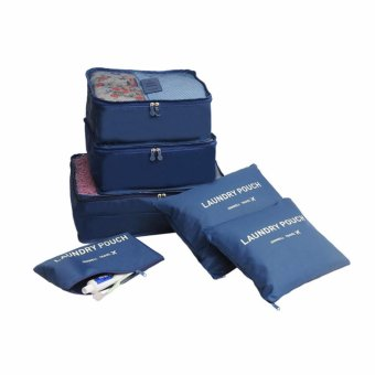 6pcs Storage Bags Packing Travel Luggage Organizer (Navy Blue) Price Philippines