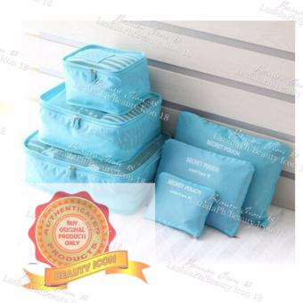 6pcs Storage Bags Packing Travel Luggage Organizer (Sky blue) Price Philippines