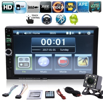 7 inch 2 Din Bluetooth Touch Screen Car Radio MP4 with Camera Hands-Free Call for Android Phone - intl
