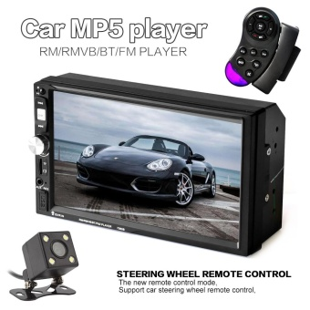 7 Inch HD 2 Din Bluetooth Touch Screen Car Audio Stereo FM MP5Player + Rearview Camera - intl