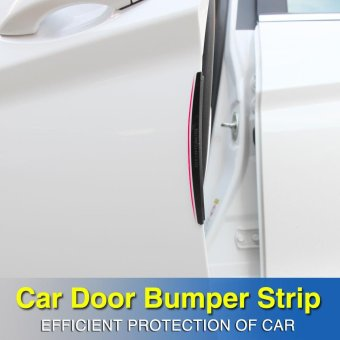 8pcs Car Door Edge Guards Trim Molding Protection Strip ScratchProtector - intl