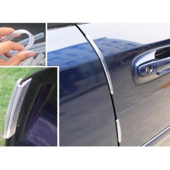 8Pcs Set Car Door Edge Guard Corner Bumper Buffer Trim Molding Protection Strip Accessories (Transparent