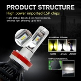 ... 9005 HB3 200W 24000LM LED Car Headlight Bulb Low Beam CREE CSP Chips DIY 3000K/ ...