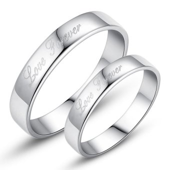 Adjustable Couple Rings 925 Silver Romentic Lover Ring Jewelry E014 - intl