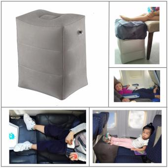 Airplane Pillow Inflatable Travel Footrest Pillow Flight Pillow ForKids And Adults Car Airplane Foot Pad Foot Mat - intl