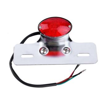 Allwin RED Motorcycle Motorbike LED Rear Stop Tail Light BobberChopper Cafe Racer - intl