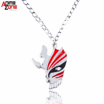 Anime Bleach Hallow Ichigo Fashionable Pendant Necklace (Silver/ Red) Price Philippines